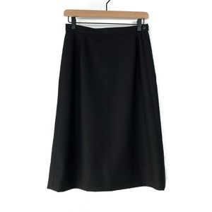 Pendleton Black 100% Virgin Wool A-Line Midi Skirt